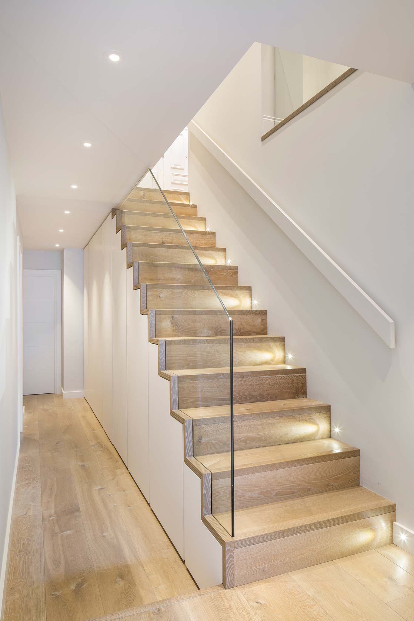 Canfield Gardens Wooden Staircase And Floors Glass Balustrade